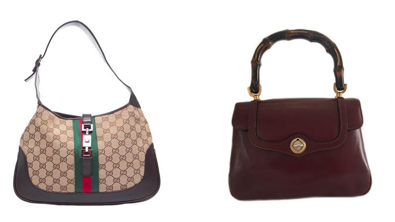 Links: Gucci Handtasche Rechts: Gucci Bamboo Vintage Handtasche