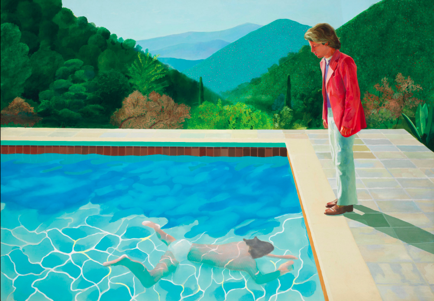 David Hockney, Portrait of an Artist (Pool with two figures) , 1972, olio su tela, Christie's.