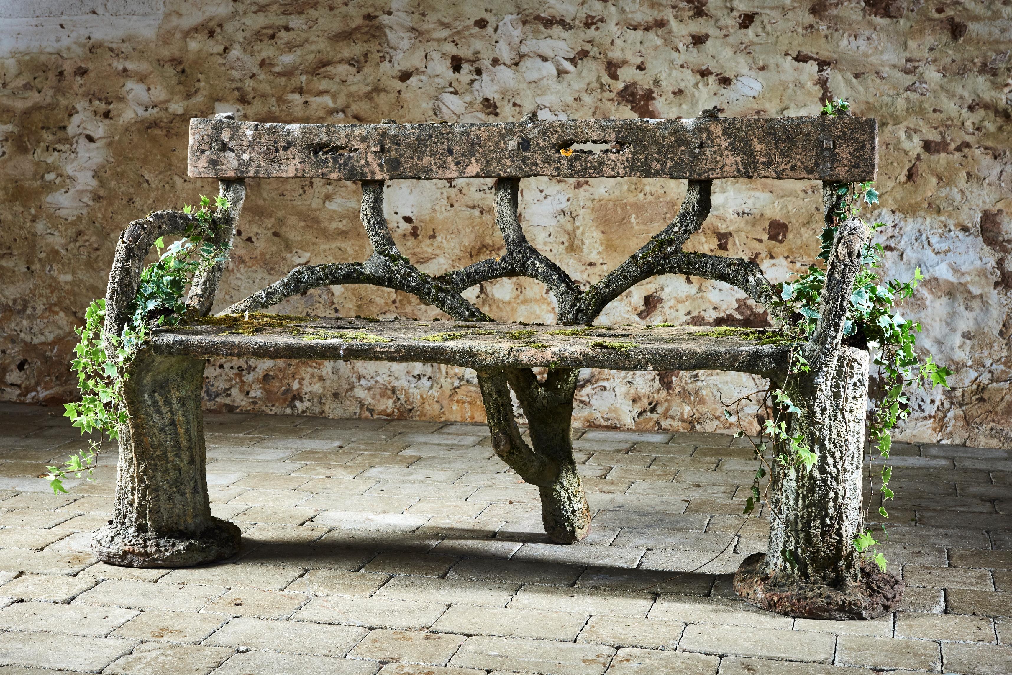 Faux-bois bench (c.1870)