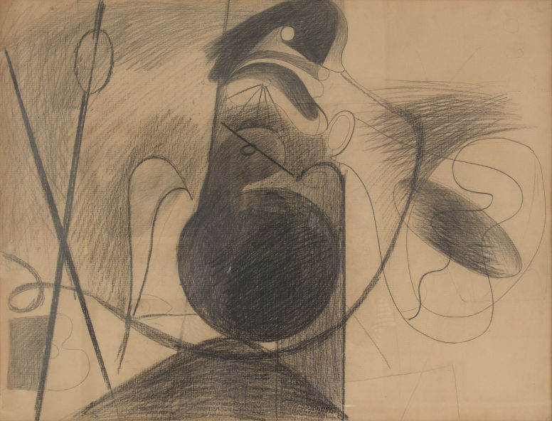 Arshile Gorky (1904-1948) Untitled (X on Brown Paper), circa 1933-34 Image via Heritage Auctions