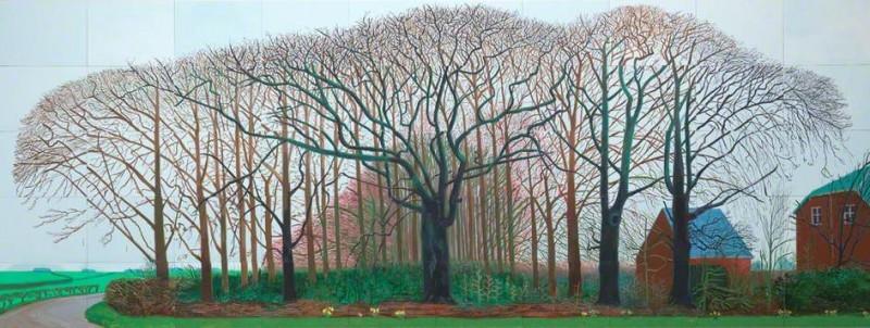 David Hockney, Bigger Trees near Warter, 2007, image via artuk.org