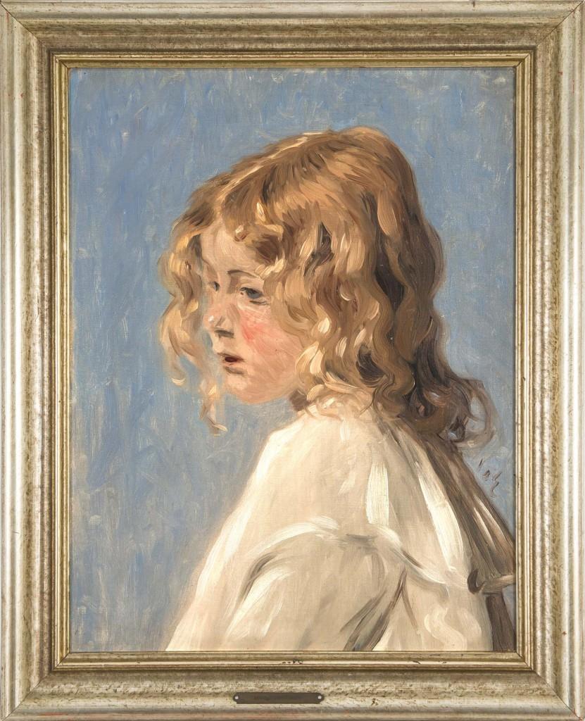 HANS AM ENDE (1864 Trier - 1918 Stettin) - Mädchenbildnis, Öl/Lwd./Malpappe, monogrammiert Mindestpreis: 3.000 EUR