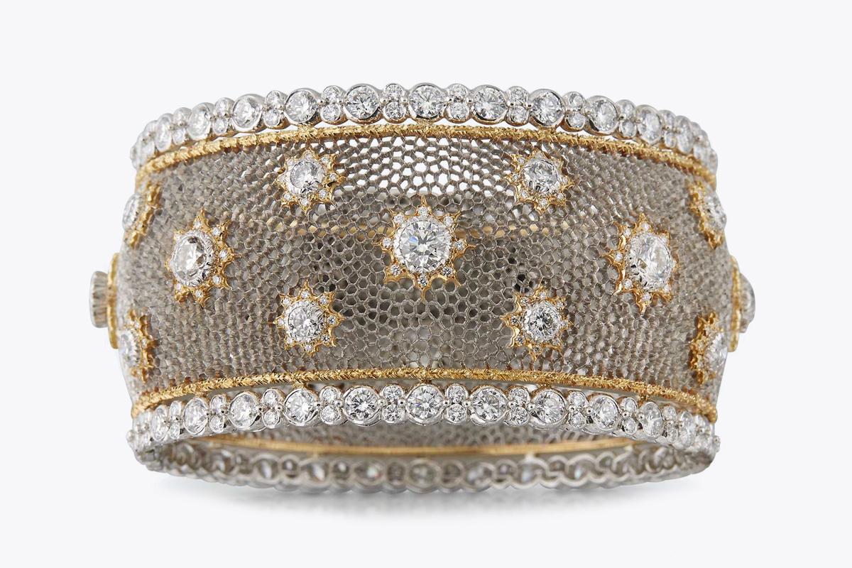 Bracciale in tecnica Tulle. Foto: The Eye of Jewelry
