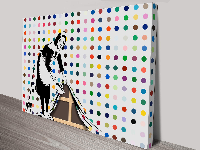 Keep It Spotless (Defaced Hirst), Banksy, 2007