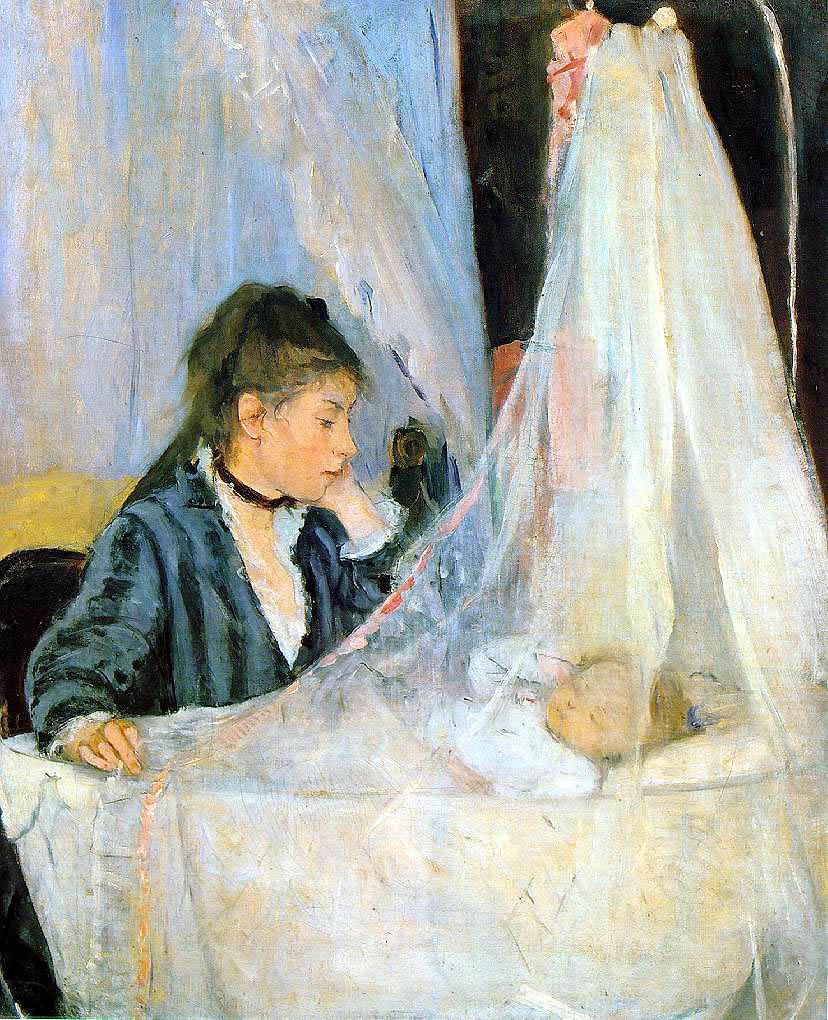 Berthe Morisot, «Le berceau », 1872, Musée d'Orsay