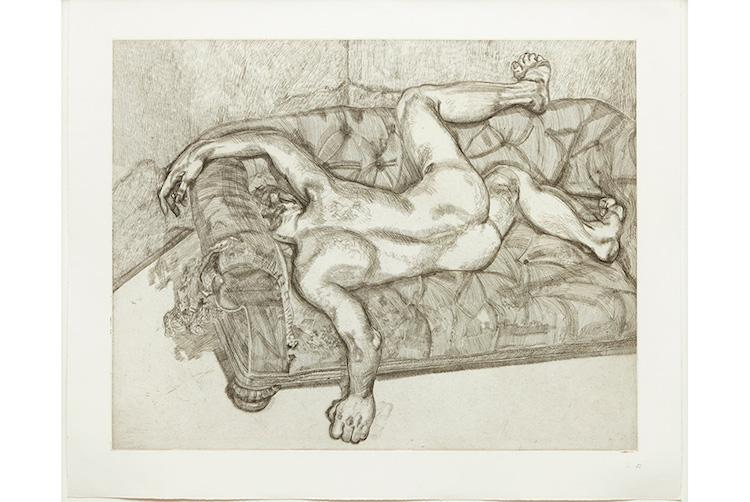 Lucian Freud Naked Man on a Sofa. Utrop: 1 510 000 SEK Phillips