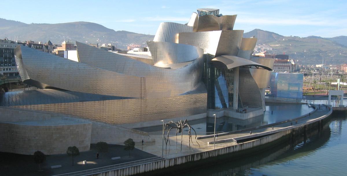 Museo Guggenheim Bilbao ritat av Frank Gehry 1991-97