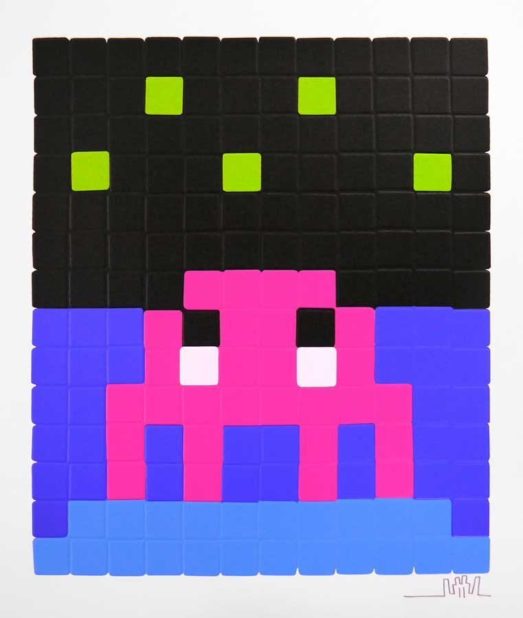 Space Invader, Space One (Pink) Print, 2013 On sale at Graffiti Street