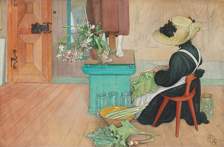 """Carl Larssons """"Rabarber"""", 1911"""