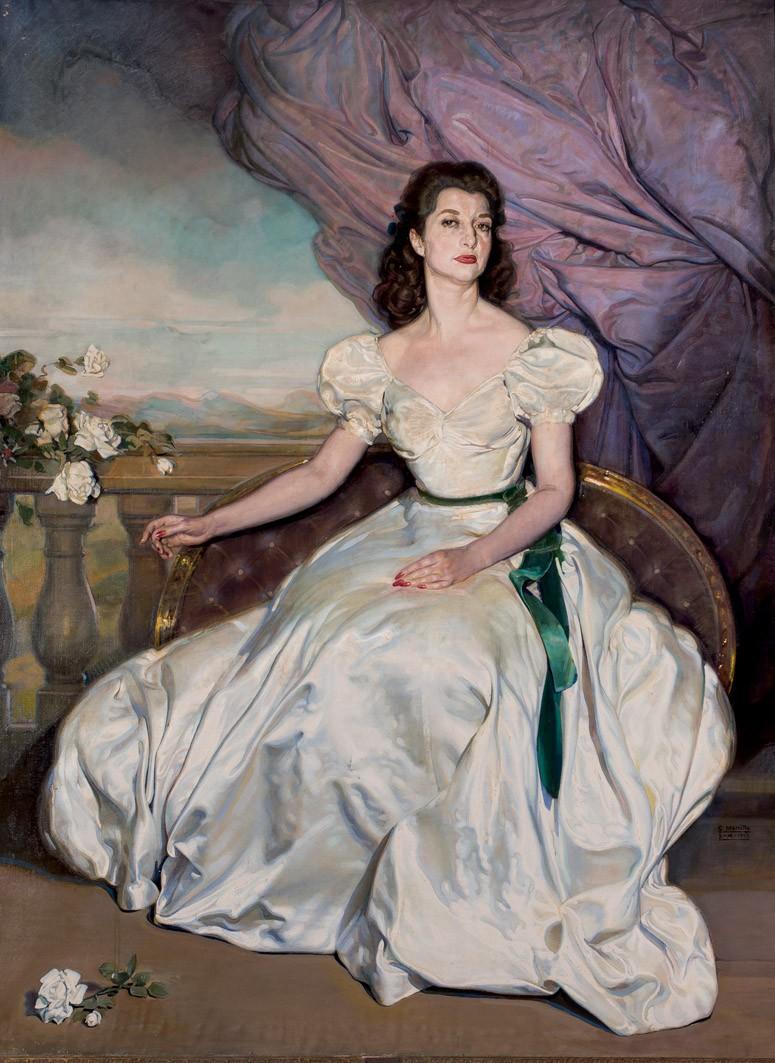 Lote 125: GABRIEL MORCILLO. Retrato de la Sra. de Casanova. Precio de salida: 7.000 €