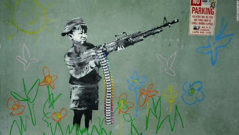 Banksy, verk i Los Angeles från 2011