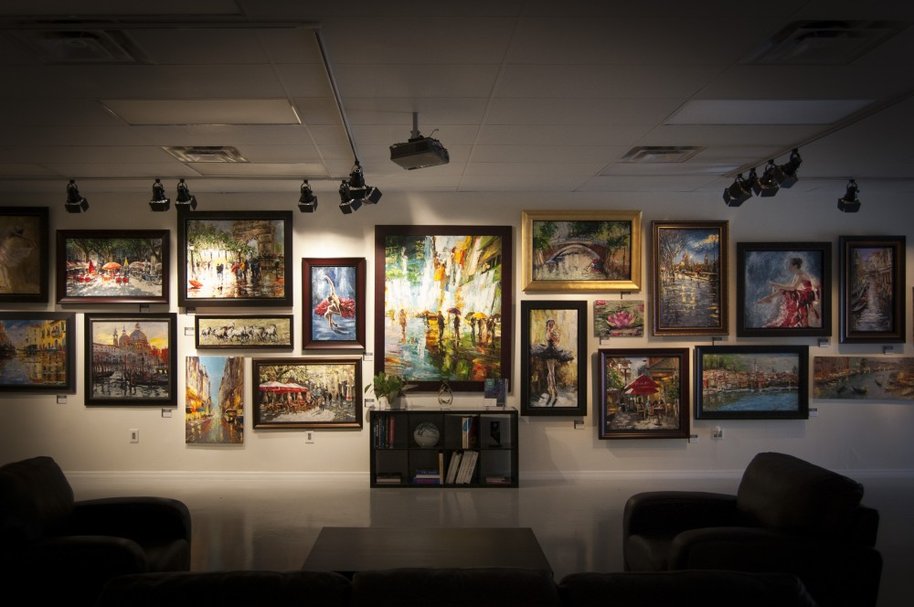 Photo caption: A wall in Baterbys' 7 000-square-foot showroom shows off just a few of the 800 or so works that will be available for bid at their Art Gallery Event. Image: Baterbys Art Gallery