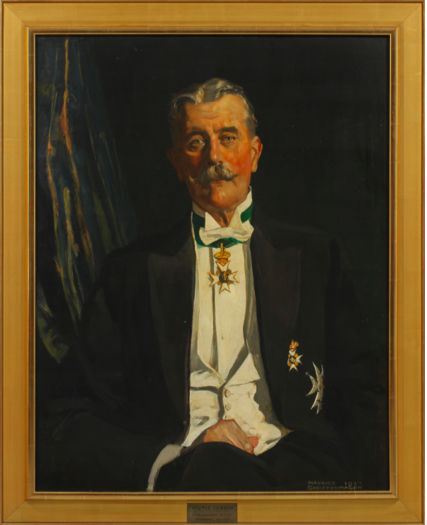 Porträtt av George Dickson, olja.