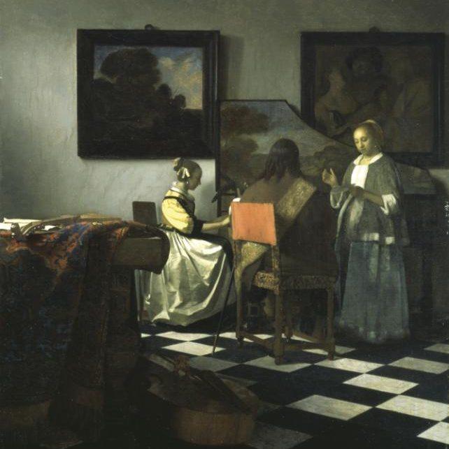 Johannes Vermeer, Konserten, cirka 1665.