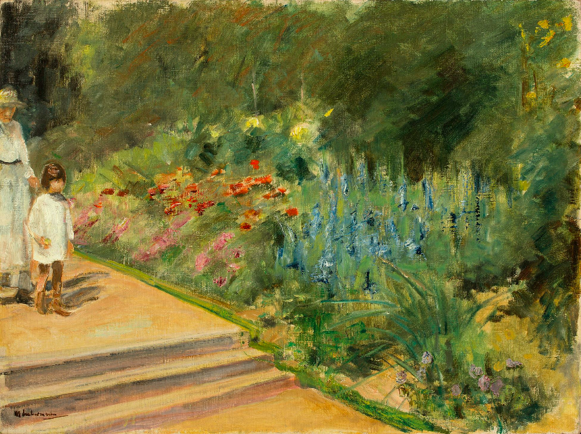 "Max Liebermann, ""Enkelin und Kinderfrau im Nutzgarten"", 1923 En vente le 30 novembre chez Grisebach Estimation: EUR 300.000 – 500.000"