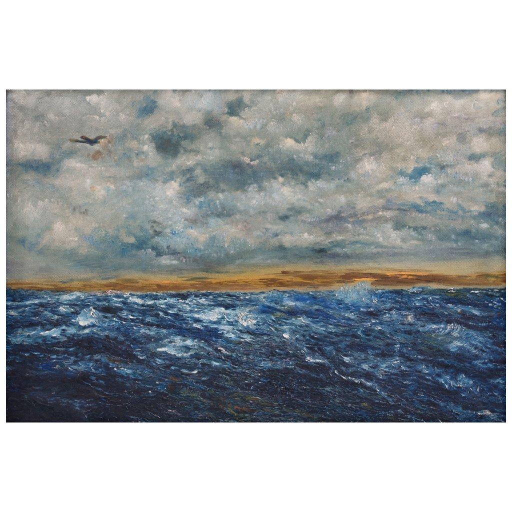 JOAQUIN CLAUSELL (1866-1935) - Marina, Öl/Lwd., 68,5x100 cm Startpreis: 1.200.000 MXN (ca. 55.435 EUR)