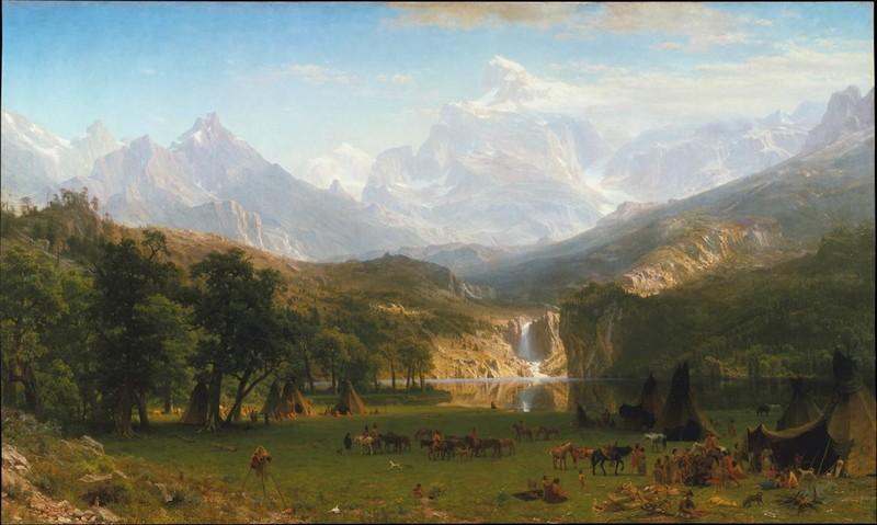 "ALBERT BIERSTADT. ""The Rocky Mountains, Lander's Peak"". Óleo sobre lienzo (1863)"