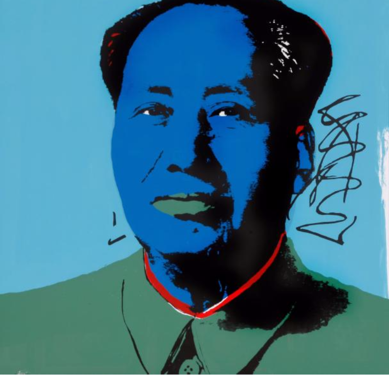 Andy Warhol Mao Tse Tung Sérigraphie 90x90 cm. Estimation :700 - 900 €