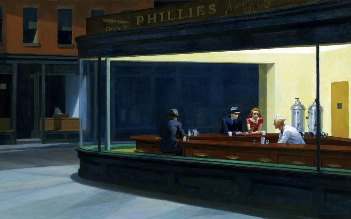 Edward Hopper, « Nighthawks », image via stylist