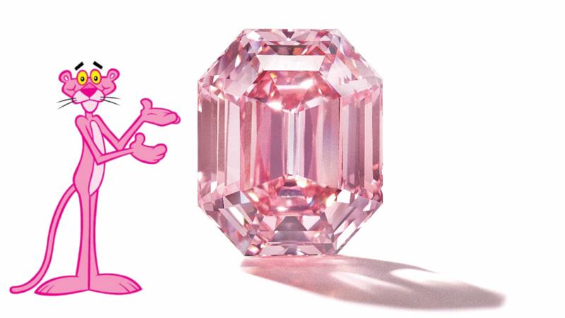 """Der 19 Karat schwere """"Pink Legacy Diamond"""" wurde vom Nobeljuwelier Harry Winston ersteigert und heißt nun """"The Winston Pink Legacy"""""""
