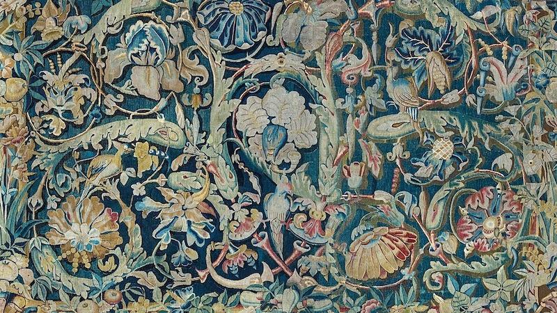 Tapisserie «Feuilles de Choux», Flandres, XVIe siècle, image ©Della Rocca