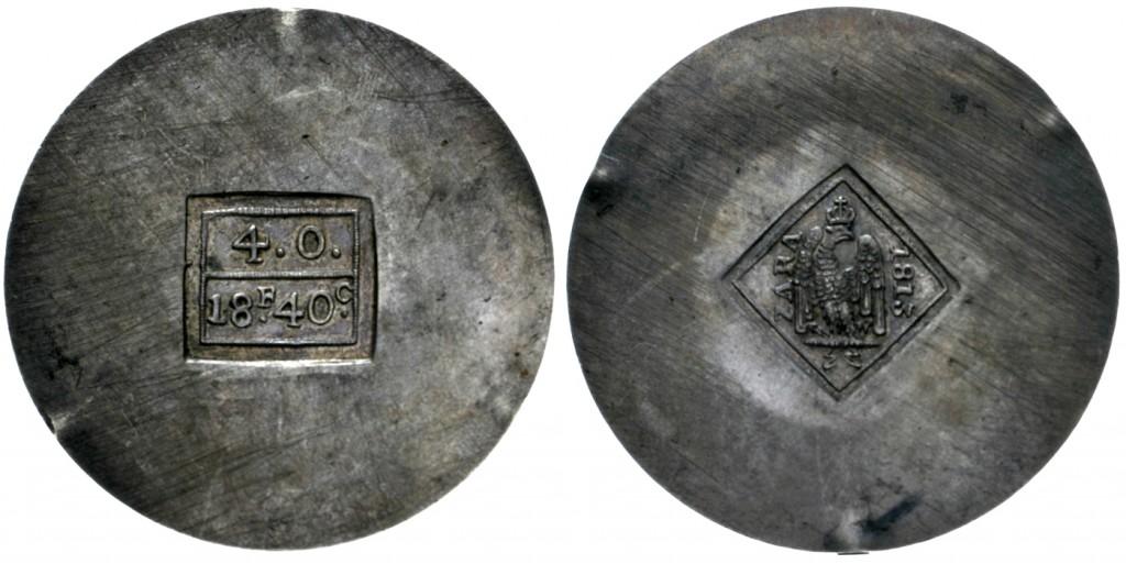 Kroatien-ZARA - 18 Francs, 40 Centimes (4 Onces), unter Napoleonischer Herrschaft 1813 Schätzpreis: 12.500 EUR