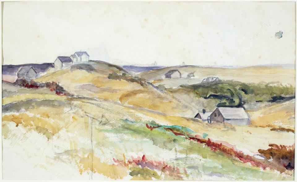 Josephine Hopper, Landschaft ohne Titel | Foto via The Boston Globe
