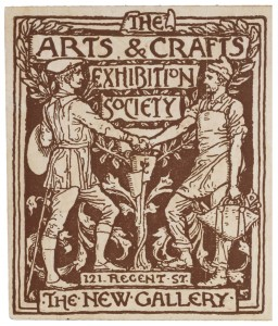Ticket designed by Walter Crane for The Arts & Crafts Exhibition Society, 1890 Image via V & A Museum