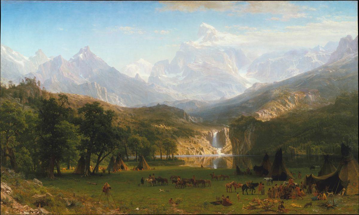 The Rocky Mountains, Lander's Peak, Albert Bierstadt. 1863, oil on canvas.