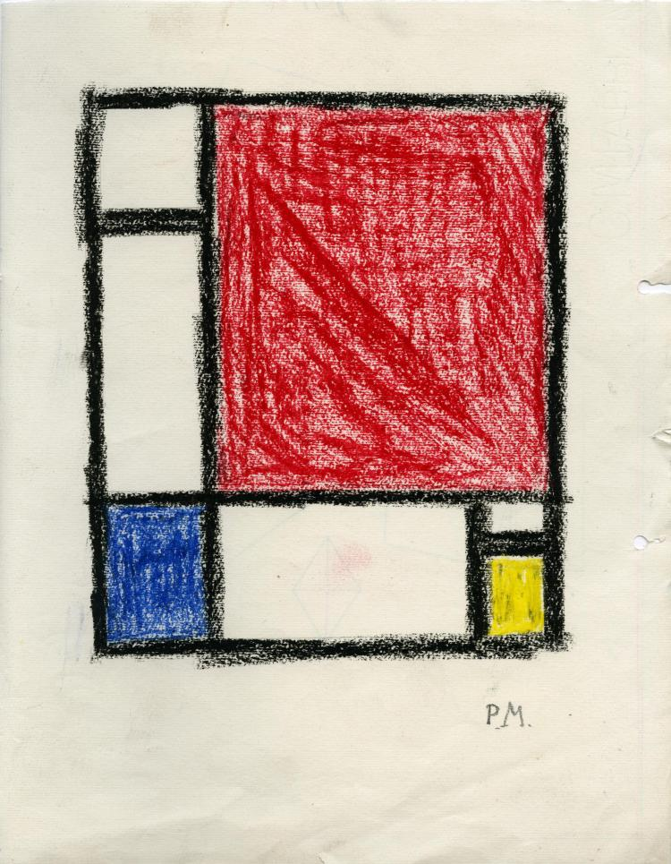 PIET MONDRIAN - Study for a Composition (ca. 1928)