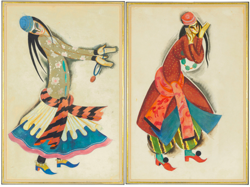 Pavel Tchelitchew, 'Two Costume Designs for Dancing Girls', 1920. Photo: Christie's