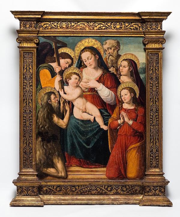 """Vicente Macip den äldre (Andilla 1475 - 1545 Valencia), """"Madonna med barn""""."""