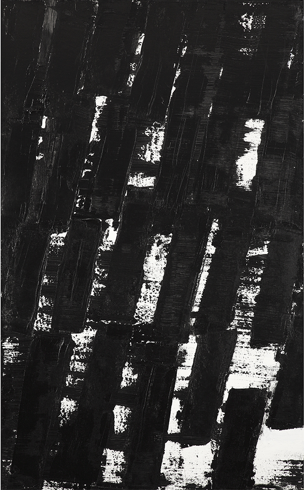 PIERRE SOULAGES (né en 1919) Peinture 130 x 81 cm, 30 Novembre 2010, Acrylique sur toile. Signée, titrée et datée au dos 130 x 81 cm Estimation: 400 000 / 600 000€