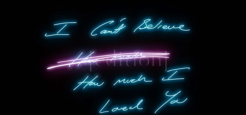 """Tracey Emin """"I Can't Believe How Much I Loved You"""" $80. Photo via Sedition"""
