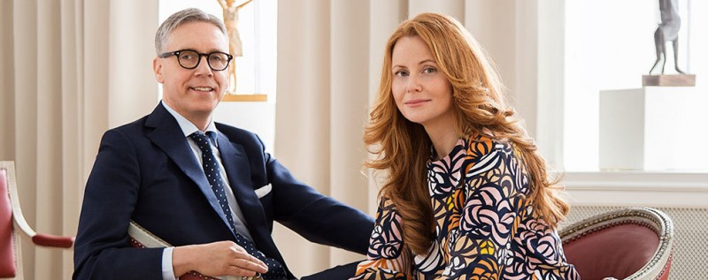 Andreas Rydén och Louise Arén. Foto: Bukowskis.