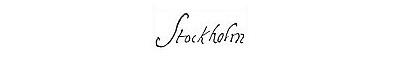 Stockholmsloggan. Bild: signaturer.nu