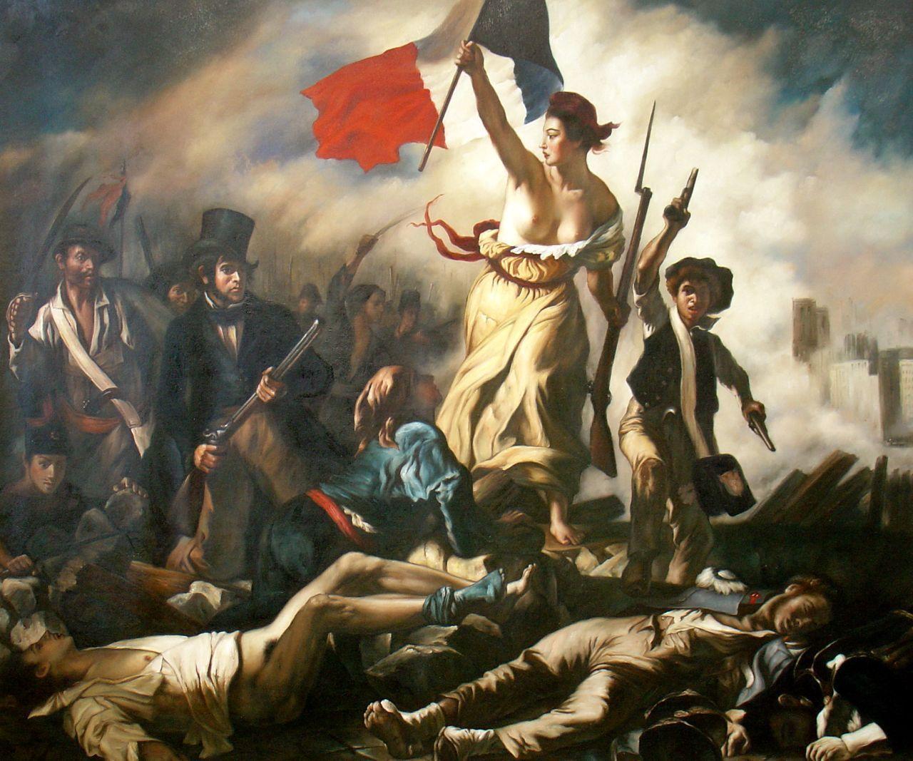 Eugene Delacroix, La Liberté guidant le peuple, 1830 Image via Konbini
