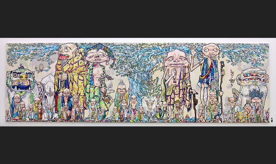 Takashi Murakami 69 Arhats Beneath the Bodhi Tree, 2013 Photo par Joshua White