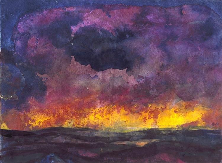 En karakteristisk oljemålning av Emil Nolde