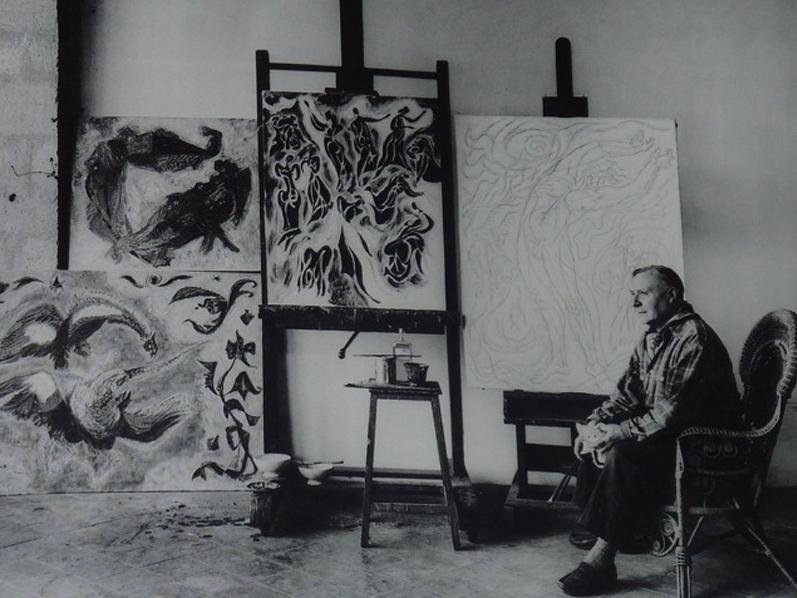 André Masson dans son studio
