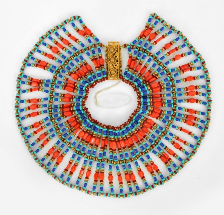 Miriam Haskell Egyptian Collar. Estimate $2,500 – $3,500