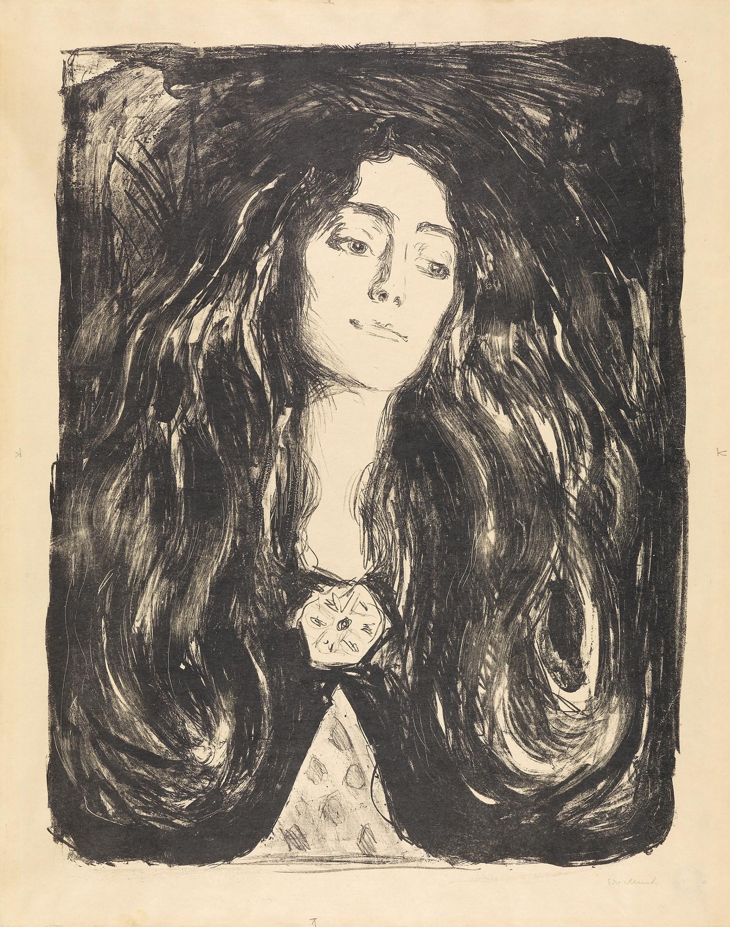 Edvard Munch, Die Brosche. Eva Mudocci, 1903, Musée national d'Oslo