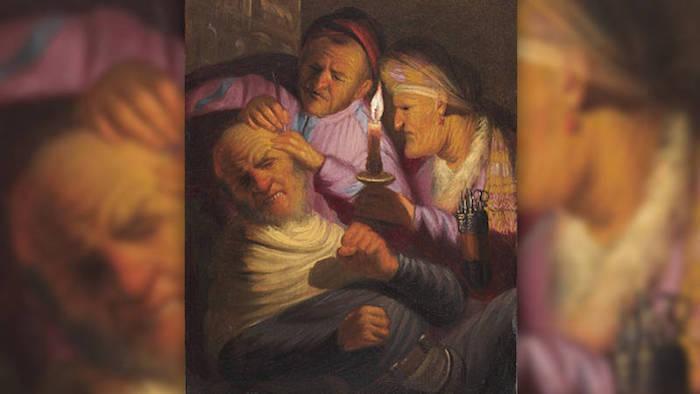 Rembrandt van Rijns, El sentido del tacto.