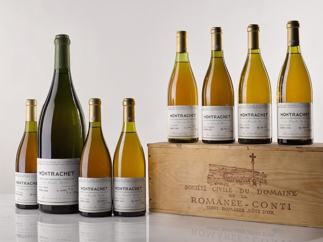 Montrachet 1985, 1989, 1993, 1994, image via The Drinks Business