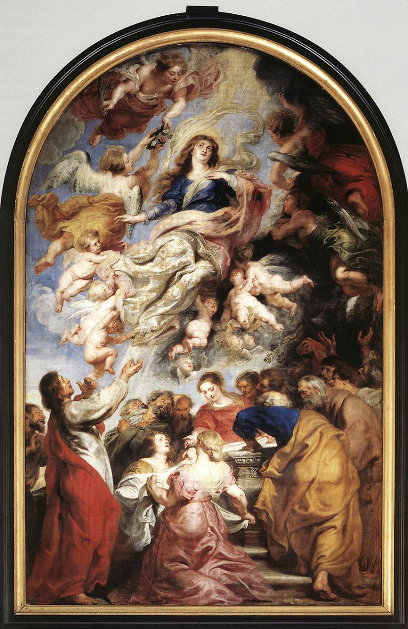 PIETER PAUL RUBENS. Asunción de la Virgen. Catedral de Amberes