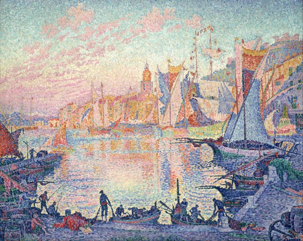 Paul Signac, Le Port de Saint-Tropez, 1901-02, image © Musée national de l'art occidental, Tokyo