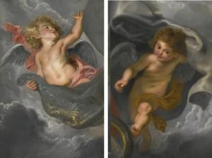 Pair of Rubens oils