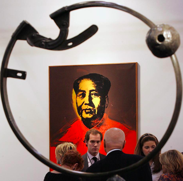 Warhol's portrait of Mao Zedong is expected to be sold for $15-18 million at Acquavella Galleries .