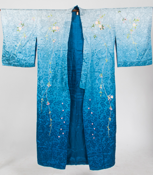 Bestickter Seiden-Kimono, Japan 20. Jh. Gray's