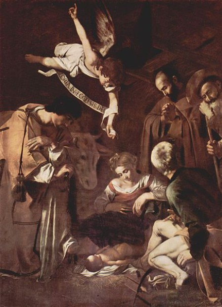 Natività con San Francesco e San Lorenzo, Caravaggio. 1600, olio su tela.